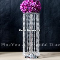 Wholesale Express Free shipment Acrylic crystal wedding centerpiece CM