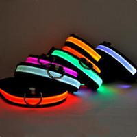 Wholesale Pet Dog Led Collars LED flashing dog collar LED pet collar necklace collar