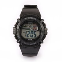 alarms mix - Mens Sports Watches Waterproof Wrist Watches LED Display Digital Round Shape Alarm Multiple Time Watches Mix Colors