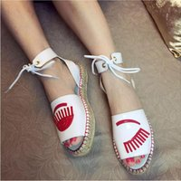 ankle strap espadrilles - Top Quality Chiara Ferragni Patent Flirting Espadrille Stitching Women s Shoes Wink Patent Leather White Ankle Strap Sandals Size