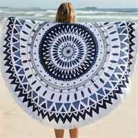 Wholesale Tassel Beach Towel Round Bohemia beach towel cm Bohemia Tassel Knitted beach towel blanket Cotton Beach towels