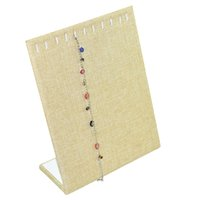 Wholesale Hook Black Sackcloth Plate Bracelet Pendant Necklace Display Rack Jewelry Holder Accessories Props