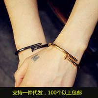 Wholesale European Fashion Jewelry Titanium stainless steel nail bracelet