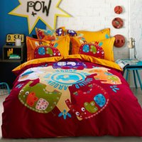 Wholesale Blue Harry Potter hathaway Owls bird print bedding set queen king size bed cover Egyptian cotton home textile comforter sheets