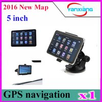 Wholesale DHL free map inch car gps navigation TFT touch screen built in gb suport fm mp3 video player wince6 ZY DH
