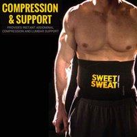 Wholesale Sweet Sweat WAIST TRIMMER BELT Premium Black Sport Premium Waist Trimmer for Men Women by Sports Research