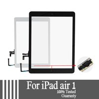 Wholesale A Touch Digitizer Glass Button for Apple iPad Air Black White For iPad air for iPad Touch Screen Glass Digitizer
