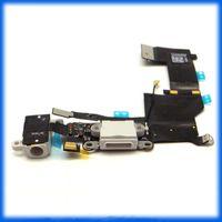 al por mayor conector iphone 4s-Mezclar para el iPhone 6 más 6 5 5s 5c 4g 4s 5G 6G USB original de conector Dock Puerto de carga y auriculares Audio Jack Flex Cable de cinta gris
