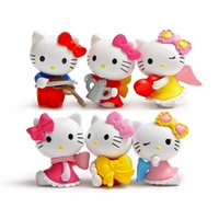Wholesale brinquedos Super cute HelloKitty angel trumpet micro landscape wink Action Figure doll Toy baby Toys funko pop toy