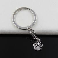 bear paw rings - Fashion diameter mm Key Ring Metal Key Chain Keychain Jewelry Antique Silver Plated bear paw mm Pendant
