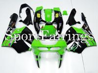 Wholesale Fairings Fit Kawasaki ZX R ZX9R Year ABS Motorcycle Fairing Kit Bodywork Cowling Black Green