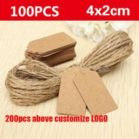 Wholesale Kraft paper labels lace scallops head lage wedding etiquette Rating DIY chain Blank hang tag Kraft Be customized LOGO