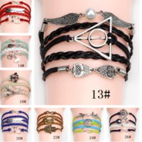 artificial quartz - Multilayer Braided Bracelets Vintage Infinity Anchor Hook Artificial Leather Bracelet Bangles Jewelry Gift Style b035