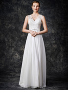 bead gallery - 2016 Sleeveless V Neckline Belt Chiffon Wonderful A Line Ga2263 J26T Ella Rosa Gallery Bridal Gowns Wedding Dresses