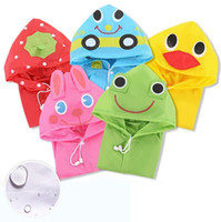 Wholesale Hug Me Baby Girls Children raincoat poncho thickened cartoon baby raincoat rain gear AA