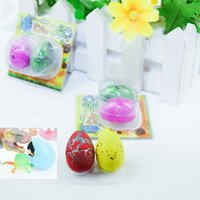 Wholesale dinosaur hatching eggs two fitted dinosaur egg expansion toys children s educational toys quality assurance