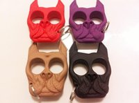 Wholesale Brutus Self Defense Key Chain Dog Skull Shaped Personal Security Women Self defense Keychains Keychain Factory Direct DHL fast delivery