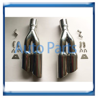 Wholesale 2 full set Universal muffler high quality motorcycle Exhaust system