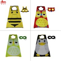animal mask for kids - 4 cape mask L27 kid animals single layer capes for birthday party outdoor trip Christmas gifts Child Party Costumes Cosplay via DHL
