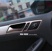 Wholesale 4PCS For Volkswagen vw Jetta MK6 Stainless Steel Car Door Interior Handle Panel