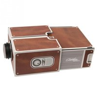 Wholesale Cardboard Smartphone Projector DIY FOR Mobile CELL Phone Portable Movie Projectors Home Theater