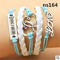 anchor bracelete - Vintage Braided Anchors Rudder bracelete Love owl Leather Bracelet jewelry heart Rope Bracelets for women