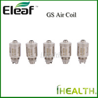 Wholesale 100 Original Eleaf GS Air Replacement Coil head ohm Pure Cotton Coil Head Compatible with GS Air atomizer in iStick Basic Kit
