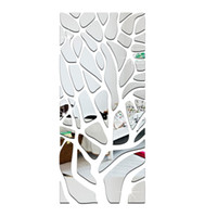 acrylic mirror strips - pieces D Acrylic Mirror Wall Stickers Living Room TV Backdrop Affixed Mirror Rectangular Strip Skirting Silver and Gold