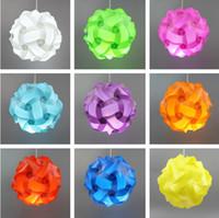 Wholesale 100PCS IQ Lamp Puzzle Pendants Lamp DIY Modern Pendant Ball Novel Gift More Colors For Choose