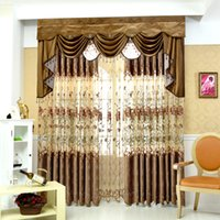 Wholesale 2016 top selling Curtain Customized High end European style Moden Minimalist Semi shade Luxury Curtains for Living Room