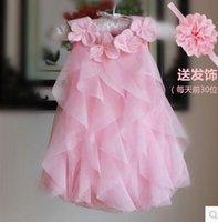 Wholesale Baby summer dress skirt female baby romper Kazakhstan skirt dress feast Newborn Christening Dresses