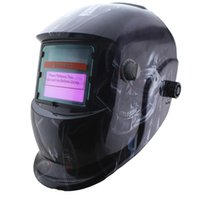 auto paint machine - Black skull paint Solar auto darkening TIG MIG MMA electric welding mask helmet welder cap for welding machine OR plasma cutter