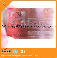 (100pcs / lot) el surtidor de superficie original del surtidor original de la superficie grabó las tarjetas de visita del acero inoxidable / las tarjetas del metal (fabricante de China)