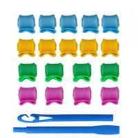 Wholesale Hair Curler With Set Hook Magic Snail Hair Rolls BOBO Head Plastic Hair Curlers