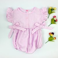 big animal costumes - Children Clothes Cotton Baby Clothing Sleeveless Striped Big Bow Sweet Princess Kids Romper Flower Girl costumes Fashion jumpsuit