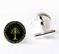 Wholesale Personalized custom cufflinks The White Tree of Gondor Cuff Links Lord of the rings men cuff links