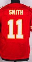 Hombres Elite Jersey # 11 <b>Alex Smith</b> # 19 Joe Montana 25 Jamaal Charles Eric Berry 29 22 Marcus Peters Rojo Blanco jerseys