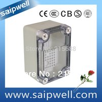 Wholesale Saipwell IP66 ABS Material wall mounted Clear Cover waterproof enclosure box DS AT