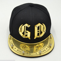 baseball shades - BIGBANG fashion snapback hats G Dragon Acrylic hiphop caps GD rivet adult Shade baseball caps