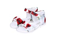 Wholesale Wl Monsoon Children s Sandals Girls Shoes Princess Summer Baby Girl Sandals Poppy Floral Print Kids Sandals Toddler Girl Beach Shoes