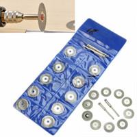 Wholesale 18mm Rotary Tool Circular Saw Blades Cutting Wheel Discs Mandrel Dremel Cutoff