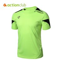 Wholesale Actionclub Men Compression Outdoor Hiking T Shirts Running Breathable Gym Sport Tops Summer Quick Dry Sports Clothing SR290
