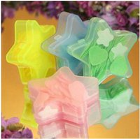 Wholesale New Cute Mini Five pointed star box Bath Body wash Soaps Fragrant Flower Petal Soap Boxes