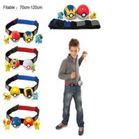 action n - New Poke game go action figure Clip N Carry Poké Ball Belt Poke Ball Belt poke ball action figure doll Pikachu Style