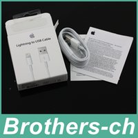 Wholesale 1M Ft MFi Pin Pin Lightning to USB Cable Sync Data Cords Charger Line Wire With BOX for iPhone s c s SE s Plus IOS