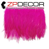 best features - Featured Quality Natural ZPDECOR inch Bulk Premium Quality Dyed Best Selling Hot Pink Rooster Hackle Feathers Trim