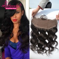 Wholesale 7A Brazilian Lace Frontal Closure x4 Body Wave Lace Frontal With Baby Hair Virgin Human Hair Full Lace Frontal