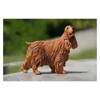 Perros perro de aguas Baratos-Cocker Spaniel Simulación Perro Estatuas Artesanía Auto Decoración Espaognol Lovely Giftwares Decoración Estatuas Artesanía con Resina JJM-1-029