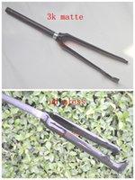 Wholesale new style carbon fiber road bike fork fit V brake disc brake k matte gloss finish bicycle fork bicicleta garfo mm c