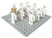 armed forces - 10pcs per set Minifigs Skeleton Swivel Arms minifigure nelegokin Building Block spaceman astronaut land force army